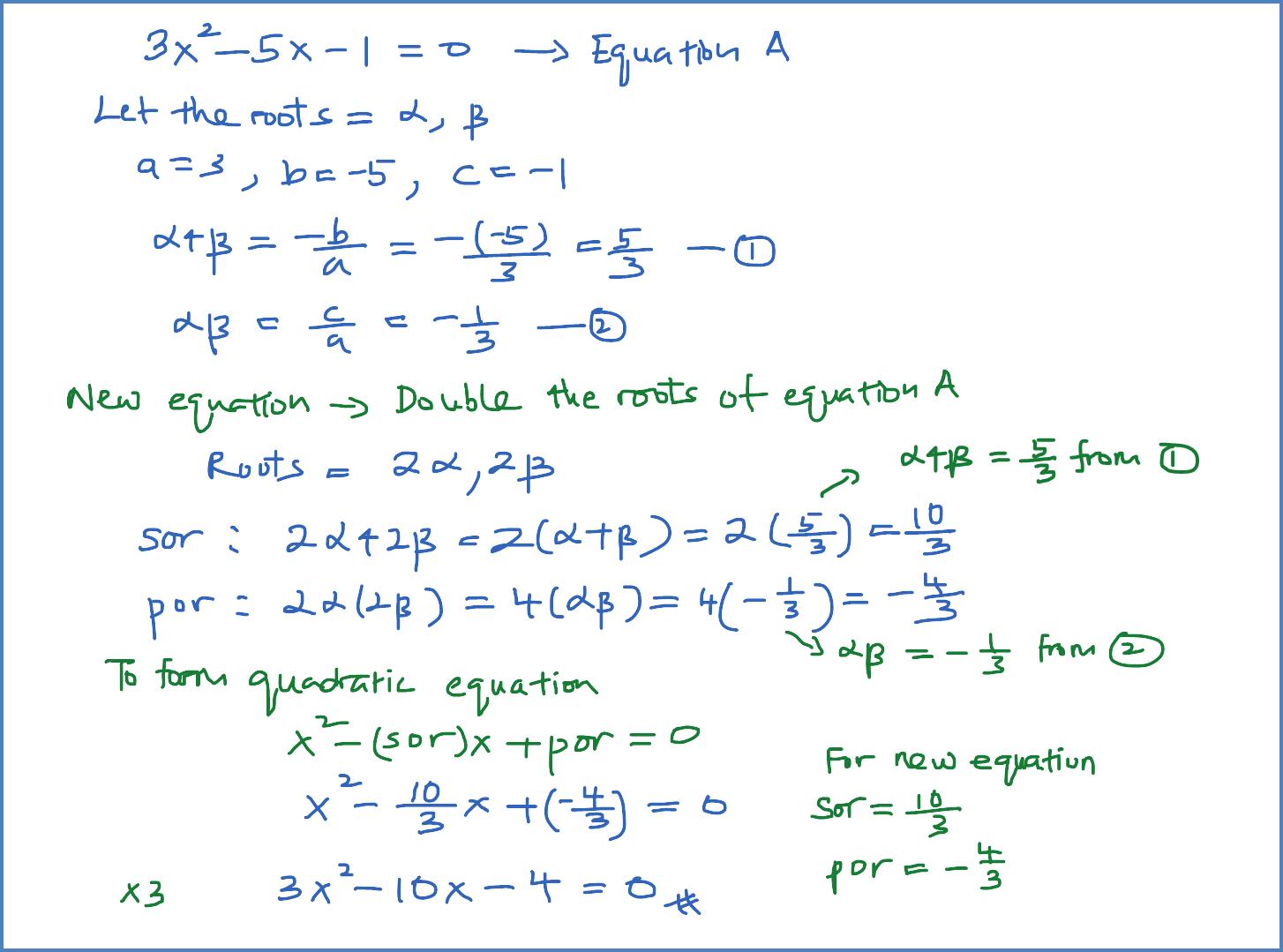 Quadratic Equations – User's Blog!